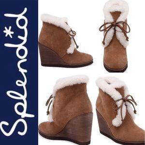 Splendid Catalina Faux-Shearling Wedge Boot